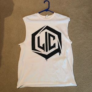 Life in color cut off shirt